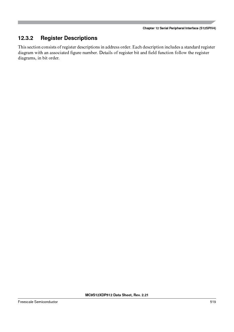 MC9S12XDP512CAL ,Freescale Semiconductor厂商,IC MCU 512K FLASH 112-LQFP, MC9S12XDP512CAL datasheet预览  第519页