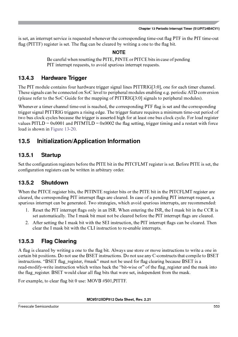 MC9S12XDP512CAL ,Freescale Semiconductor厂商,IC MCU 512K FLASH 112-LQFP, MC9S12XDP512CAL datasheet预览  第553页