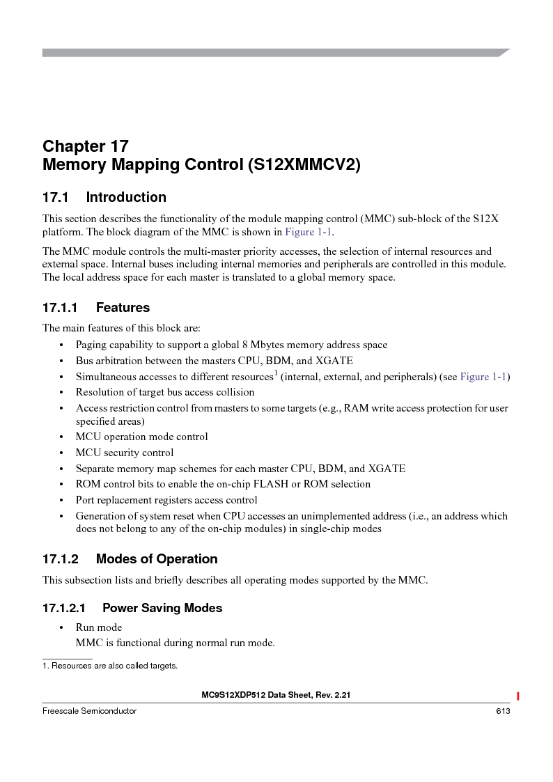MC9S12XDP512CAL ,Freescale Semiconductor厂商,IC MCU 512K FLASH 112-LQFP, MC9S12XDP512CAL datasheet预览  第613页