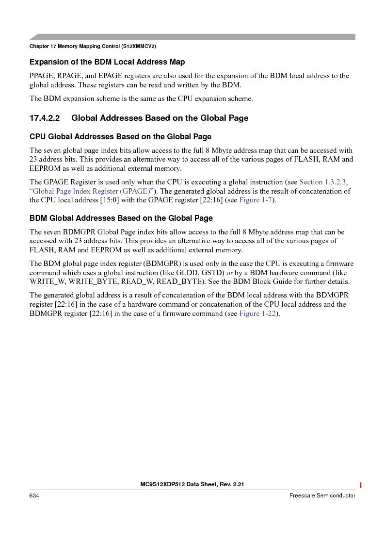 MC9S12XDP512CAL ,Freescale Semiconductor厂商,IC MCU 512K FLASH 112-LQFP, MC9S12XDP512CAL datasheet预览  第634页