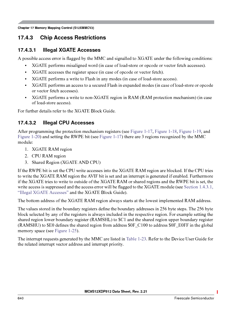 MC9S12XDP512CAL ,Freescale Semiconductor厂商,IC MCU 512K FLASH 112-LQFP, MC9S12XDP512CAL datasheet预览  第640页