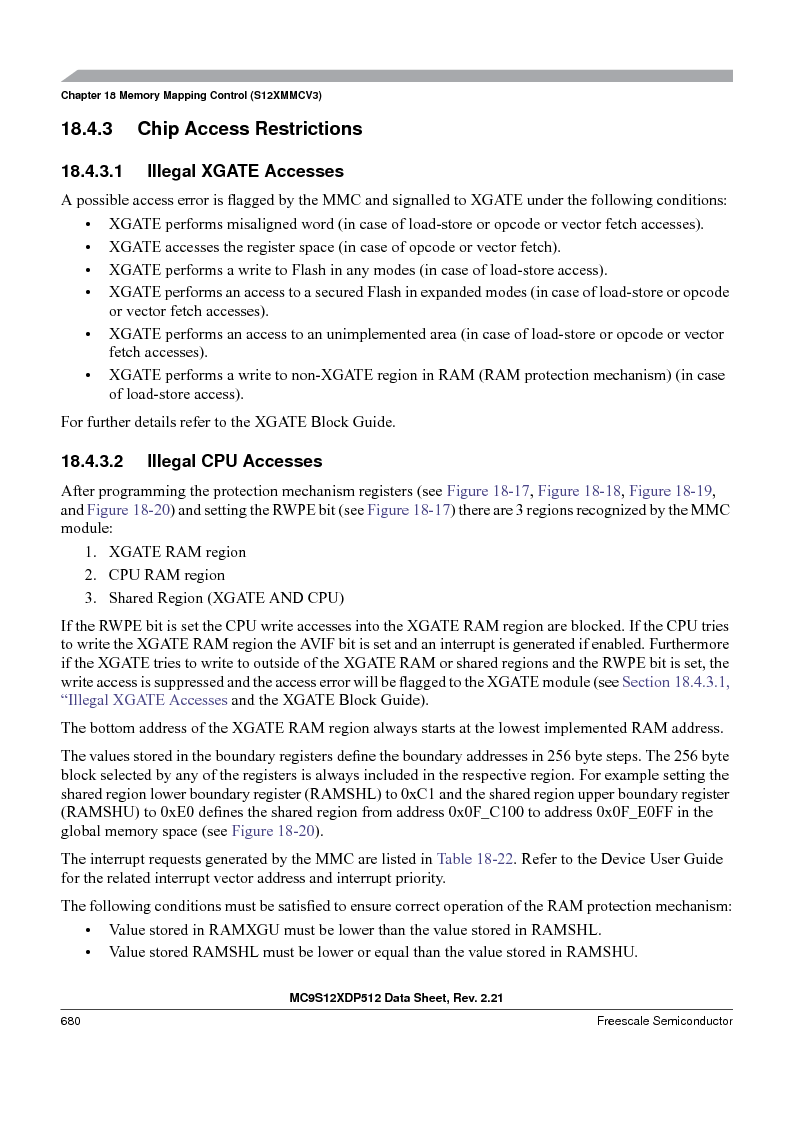 MC9S12XDP512CAL ,Freescale Semiconductor厂商,IC MCU 512K FLASH 112-LQFP, MC9S12XDP512CAL datasheet预览  第680页