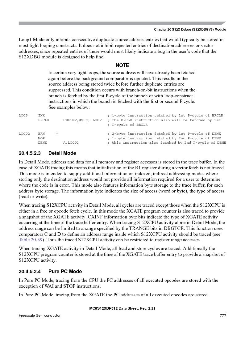MC9S12XDP512CAL ,Freescale Semiconductor厂商,IC MCU 512K FLASH 112-LQFP, MC9S12XDP512CAL datasheet预览  第775页