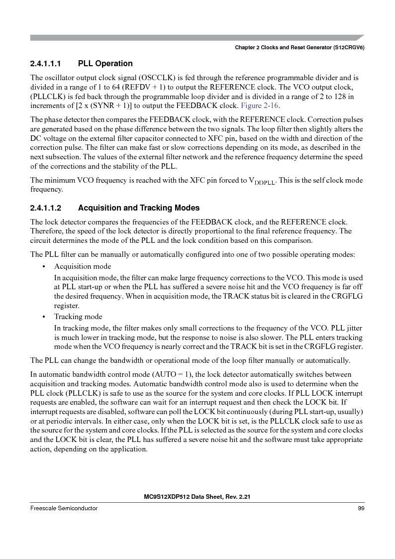 MC9S12XDP512CAL ,Freescale Semiconductor厂商,IC MCU 512K FLASH 112-LQFP, MC9S12XDP512CAL datasheet预览  第99页