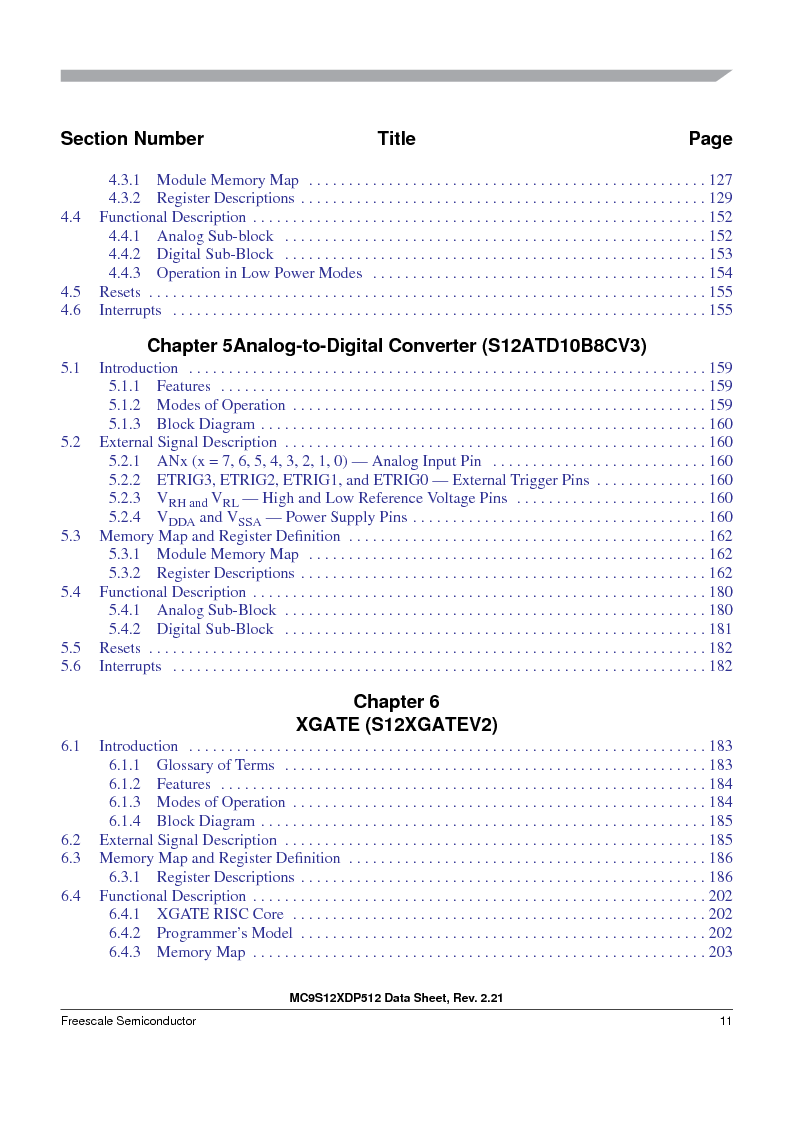 MC9S12XDT512MAL ,Freescale Semiconductor厂商,IC MCU 512K FLASH 112-LQFP, MC9S12XDT512MAL datasheet预览  第11页