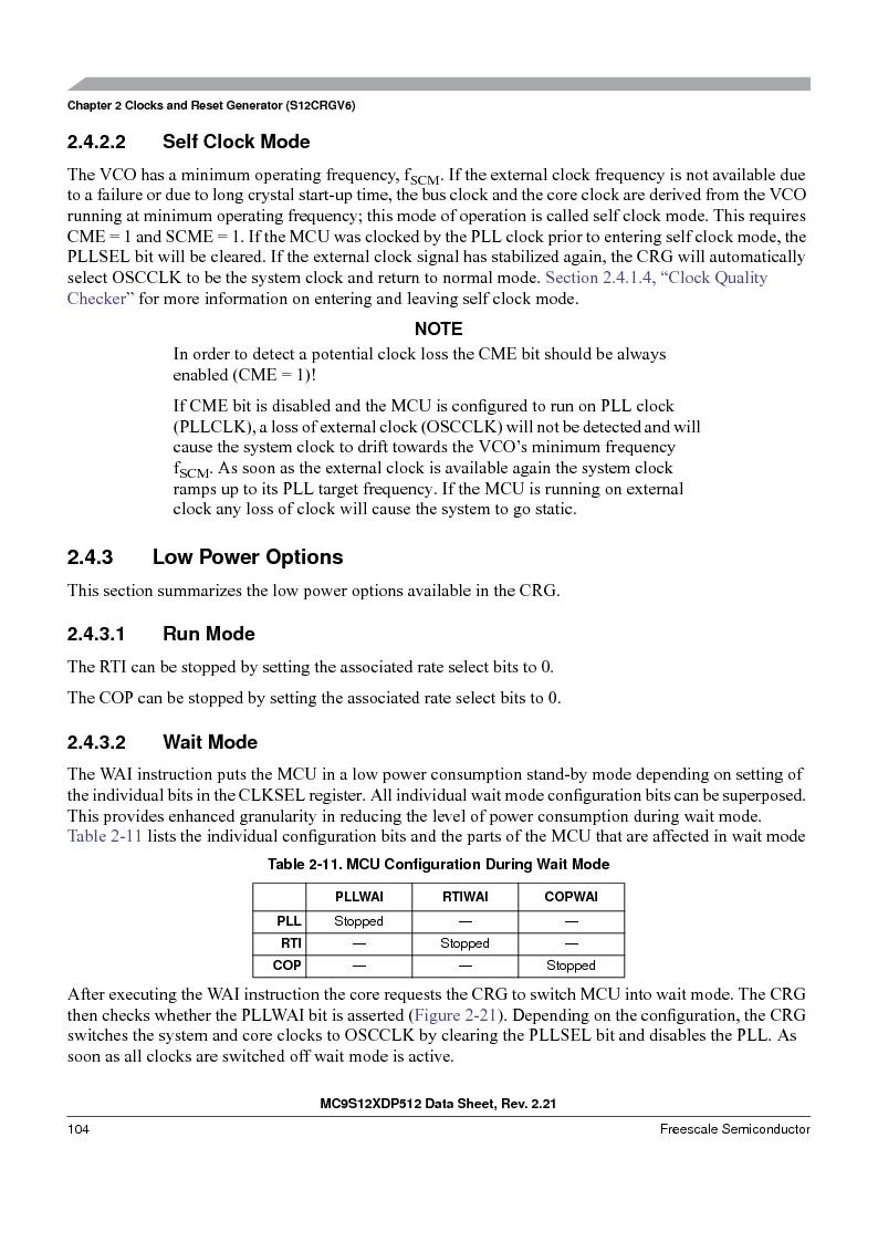 MC9S12XDT512MAL ,Freescale Semiconductor厂商,IC MCU 512K FLASH 112-LQFP, MC9S12XDT512MAL datasheet预览  第104页