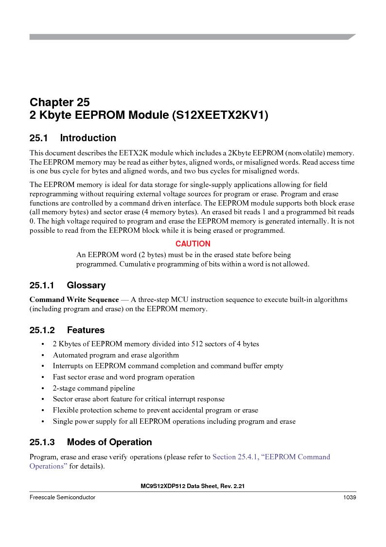 MC9S12XDT512MAL ,Freescale Semiconductor厂商,IC MCU 512K FLASH 112-LQFP, MC9S12XDT512MAL datasheet预览  第1037页