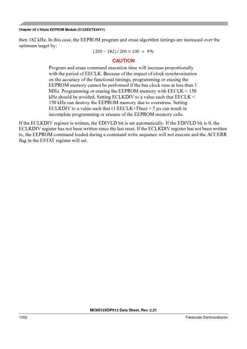 MC9S12XDT512MAL ,Freescale Semiconductor厂商,IC MCU 512K FLASH 112-LQFP, MC9S12XDT512MAL datasheet预览  第1050页