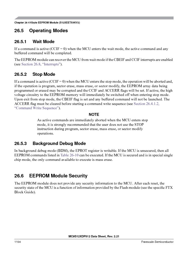 MC9S12XDT512MAL ,Freescale Semiconductor厂商,IC MCU 512K FLASH 112-LQFP, MC9S12XDT512MAL datasheet预览  第1102页
