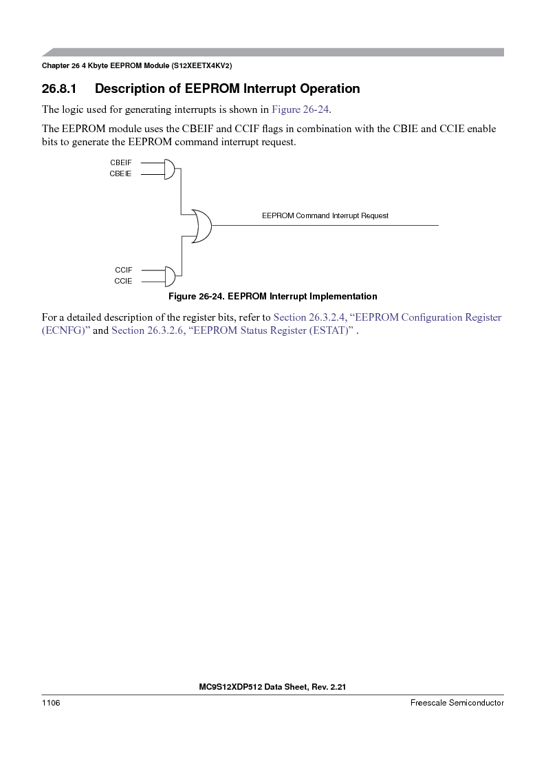 MC9S12XDT512MAL ,Freescale Semiconductor厂商,IC MCU 512K FLASH 112-LQFP, MC9S12XDT512MAL datasheet预览  第1104页