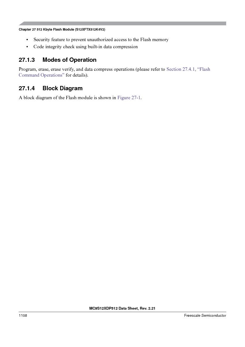 MC9S12XDT512MAL ,Freescale Semiconductor厂商,IC MCU 512K FLASH 112-LQFP, MC9S12XDT512MAL datasheet预览  第1106页