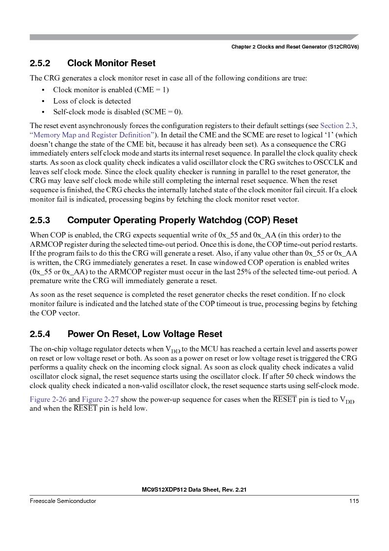 MC9S12XDT512MAL ,Freescale Semiconductor厂商,IC MCU 512K FLASH 112-LQFP, MC9S12XDT512MAL datasheet预览  第115页