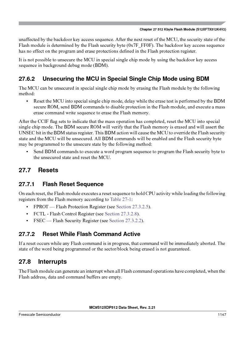 MC9S12XDT512MAL ,Freescale Semiconductor厂商,IC MCU 512K FLASH 112-LQFP, MC9S12XDT512MAL datasheet预览  第1145页
