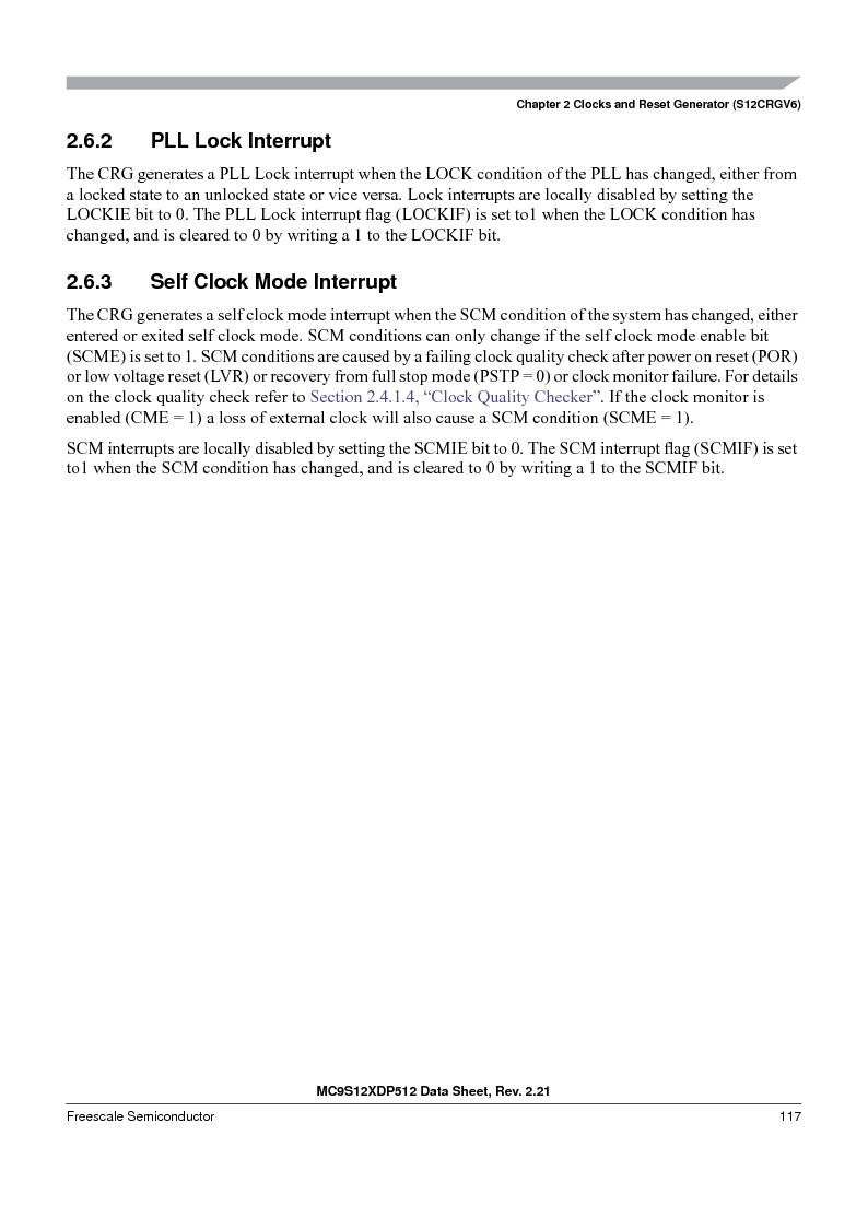 MC9S12XDT512MAL ,Freescale Semiconductor厂商,IC MCU 512K FLASH 112-LQFP, MC9S12XDT512MAL datasheet预览  第117页