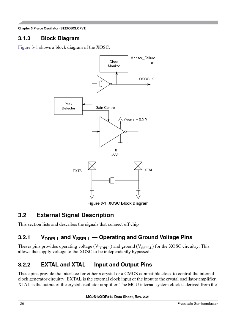 MC9S12XDT512MAL ,Freescale Semiconductor厂商,IC MCU 512K FLASH 112-LQFP, MC9S12XDT512MAL datasheet预览  第120页