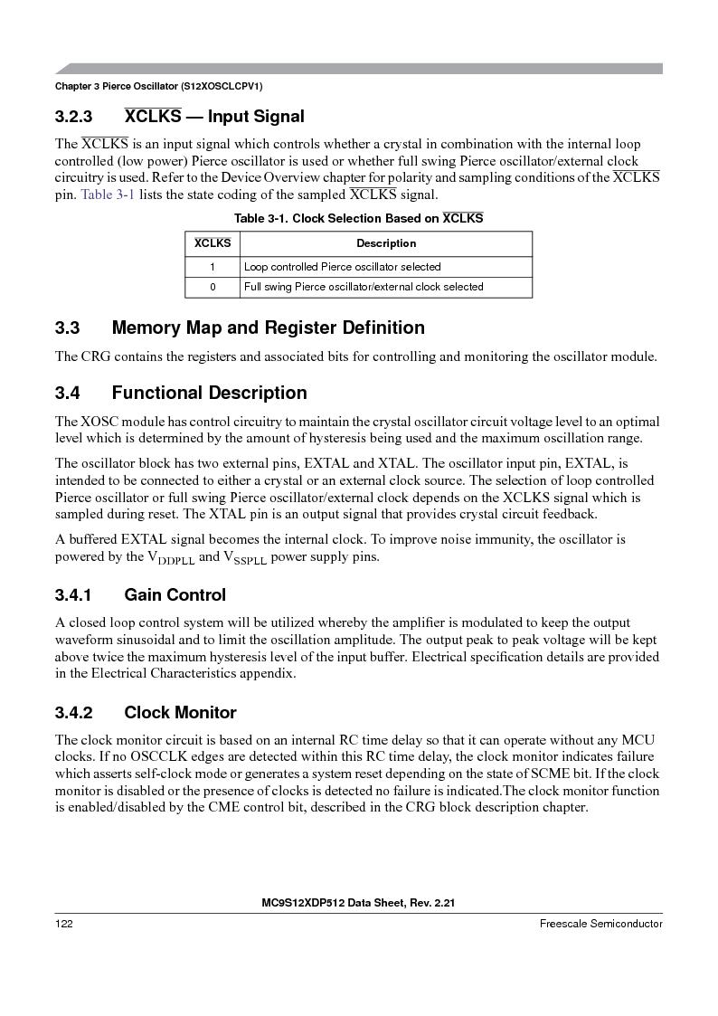 MC9S12XDT512MAL ,Freescale Semiconductor厂商,IC MCU 512K FLASH 112-LQFP, MC9S12XDT512MAL datasheet预览  第122页