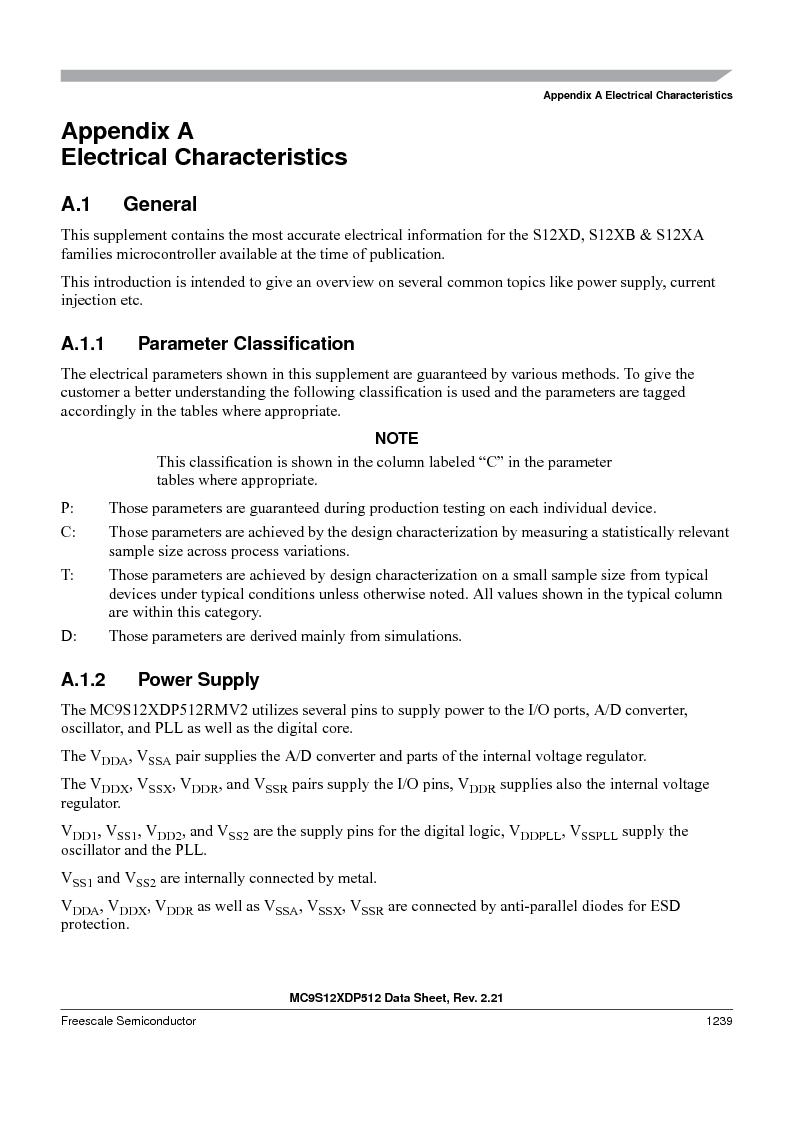 MC9S12XDT512MAL ,Freescale Semiconductor厂商,IC MCU 512K FLASH 112-LQFP, MC9S12XDT512MAL datasheet预览  第1237页