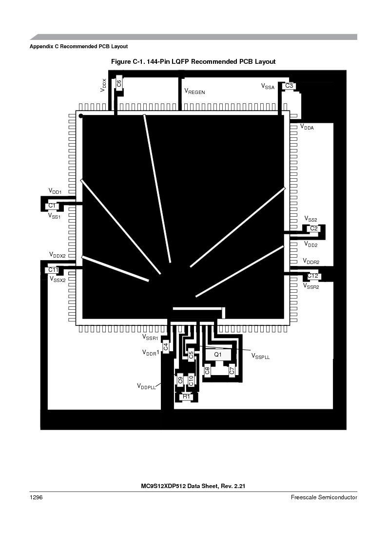 MC9S12XDT512MAL ,Freescale Semiconductor厂商,IC MCU 512K FLASH 112-LQFP, MC9S12XDT512MAL datasheet预览  第1294页