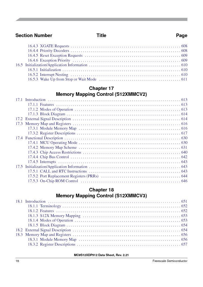 MC9S12XDT512MAL ,Freescale Semiconductor厂商,IC MCU 512K FLASH 112-LQFP, MC9S12XDT512MAL datasheet预览  第18页