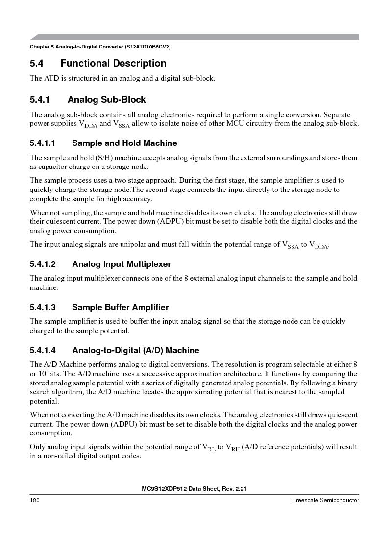 MC9S12XDT512MAL ,Freescale Semiconductor厂商,IC MCU 512K FLASH 112-LQFP, MC9S12XDT512MAL datasheet预览  第180页