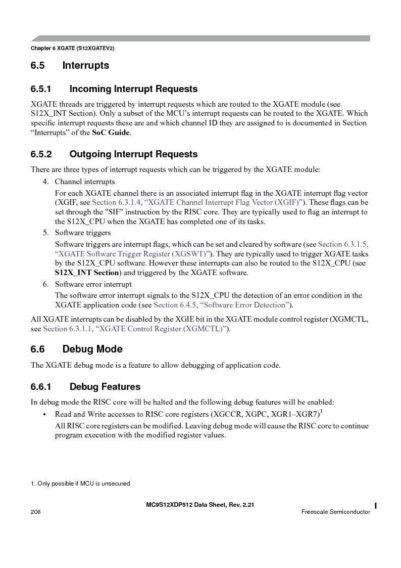 MC9S12XDT512MAL ,Freescale Semiconductor厂商,IC MCU 512K FLASH 112-LQFP, MC9S12XDT512MAL datasheet预览  第206页