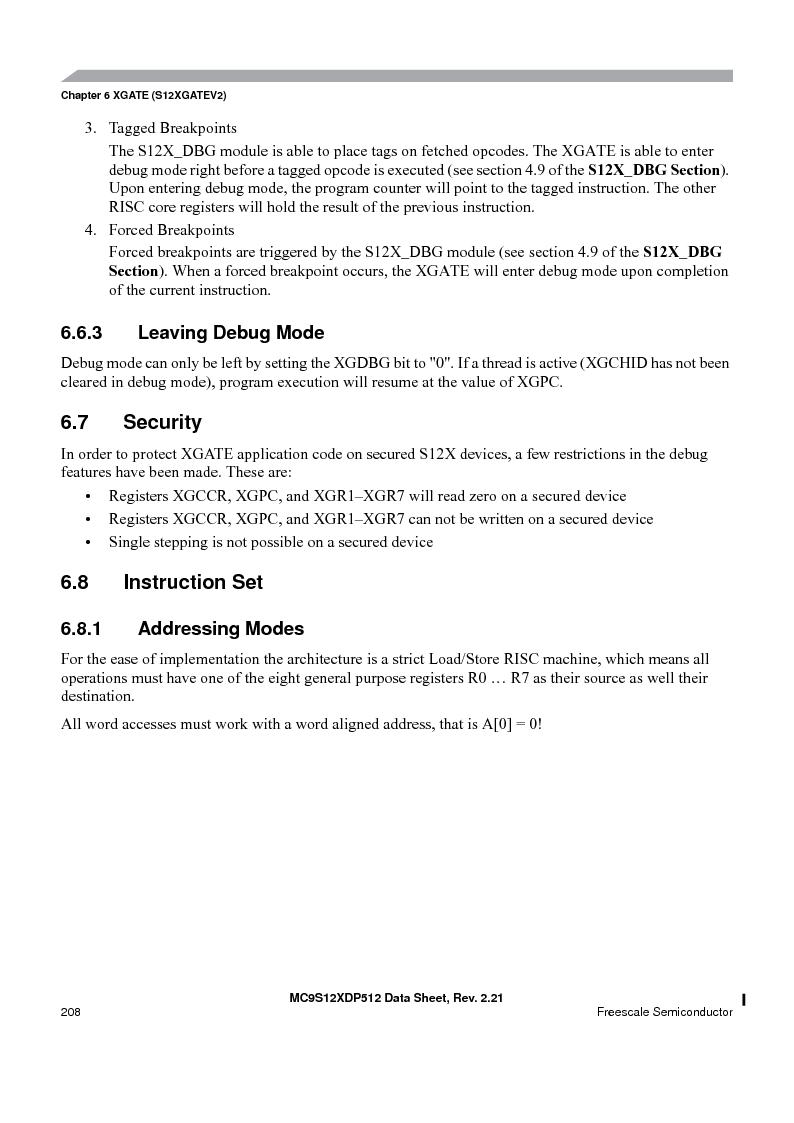 MC9S12XDT512MAL ,Freescale Semiconductor厂商,IC MCU 512K FLASH 112-LQFP, MC9S12XDT512MAL datasheet预览  第208页