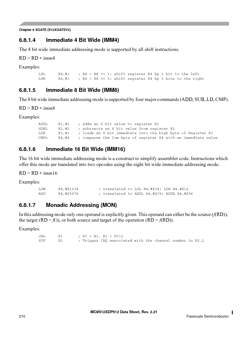 MC9S12XDT512MAL ,Freescale Semiconductor厂商,IC MCU 512K FLASH 112-LQFP, MC9S12XDT512MAL datasheet预览  第210页