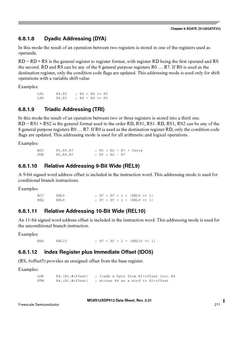 MC9S12XDT512MAL ,Freescale Semiconductor厂商,IC MCU 512K FLASH 112-LQFP, MC9S12XDT512MAL datasheet预览  第211页