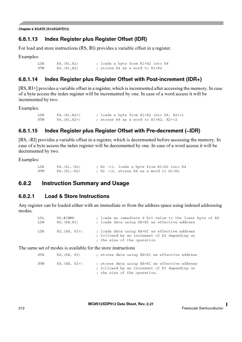 MC9S12XDT512MAL ,Freescale Semiconductor厂商,IC MCU 512K FLASH 112-LQFP, MC9S12XDT512MAL datasheet预览  第212页