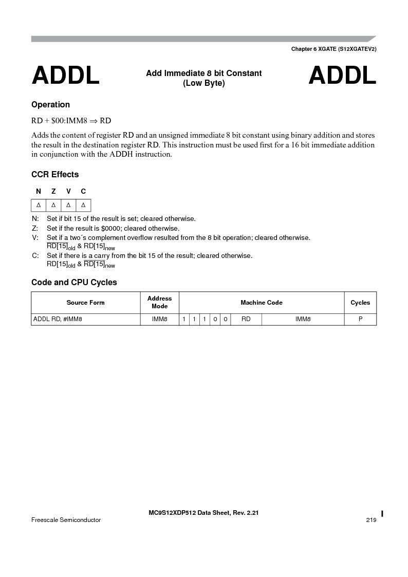 MC9S12XDT512MAL ,Freescale Semiconductor厂商,IC MCU 512K FLASH 112-LQFP, MC9S12XDT512MAL datasheet预览  第219页