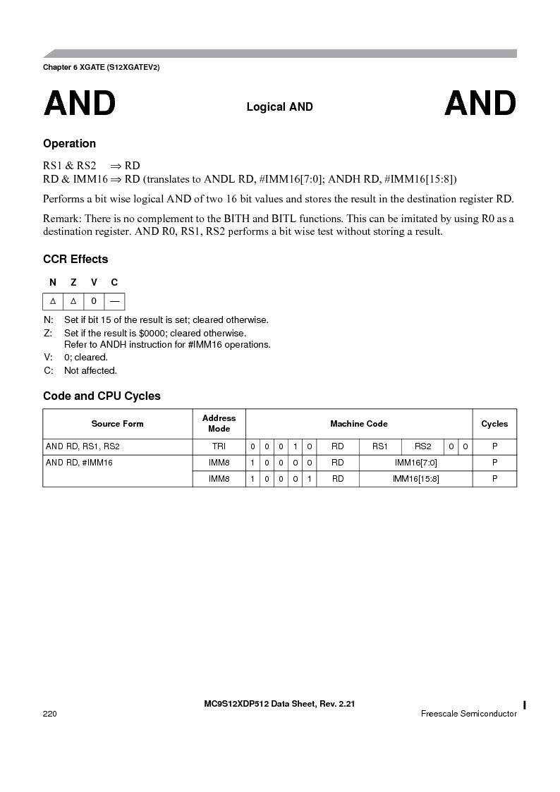 MC9S12XDT512MAL ,Freescale Semiconductor厂商,IC MCU 512K FLASH 112-LQFP, MC9S12XDT512MAL datasheet预览  第220页