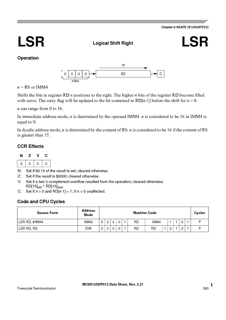 MC9S12XDT512MAL ,Freescale Semiconductor厂商,IC MCU 512K FLASH 112-LQFP, MC9S12XDT512MAL datasheet预览  第263页