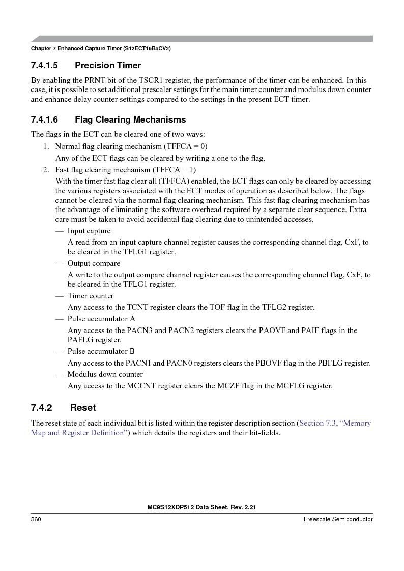 MC9S12XDT512MAL ,Freescale Semiconductor厂商,IC MCU 512K FLASH 112-LQFP, MC9S12XDT512MAL datasheet预览  第360页
