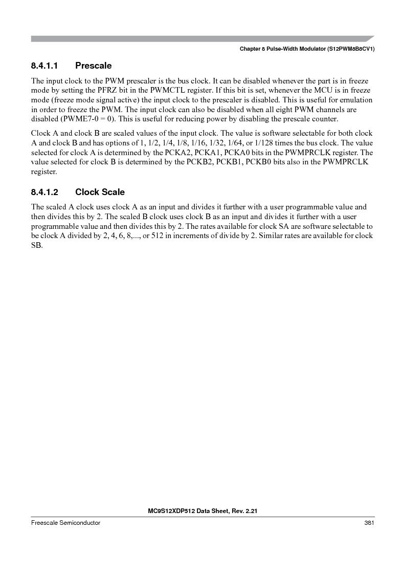 MC9S12XDT512MAL ,Freescale Semiconductor厂商,IC MCU 512K FLASH 112-LQFP, MC9S12XDT512MAL datasheet预览  第381页