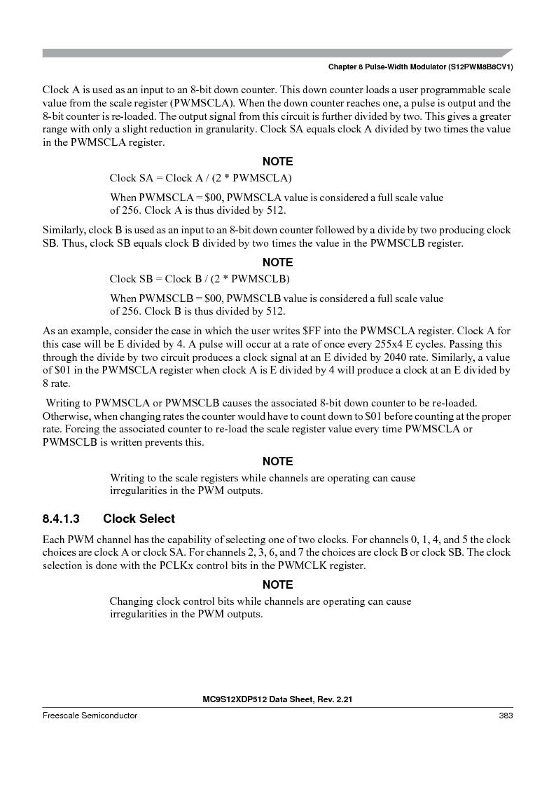 MC9S12XDT512MAL ,Freescale Semiconductor厂商,IC MCU 512K FLASH 112-LQFP, MC9S12XDT512MAL datasheet预览  第383页