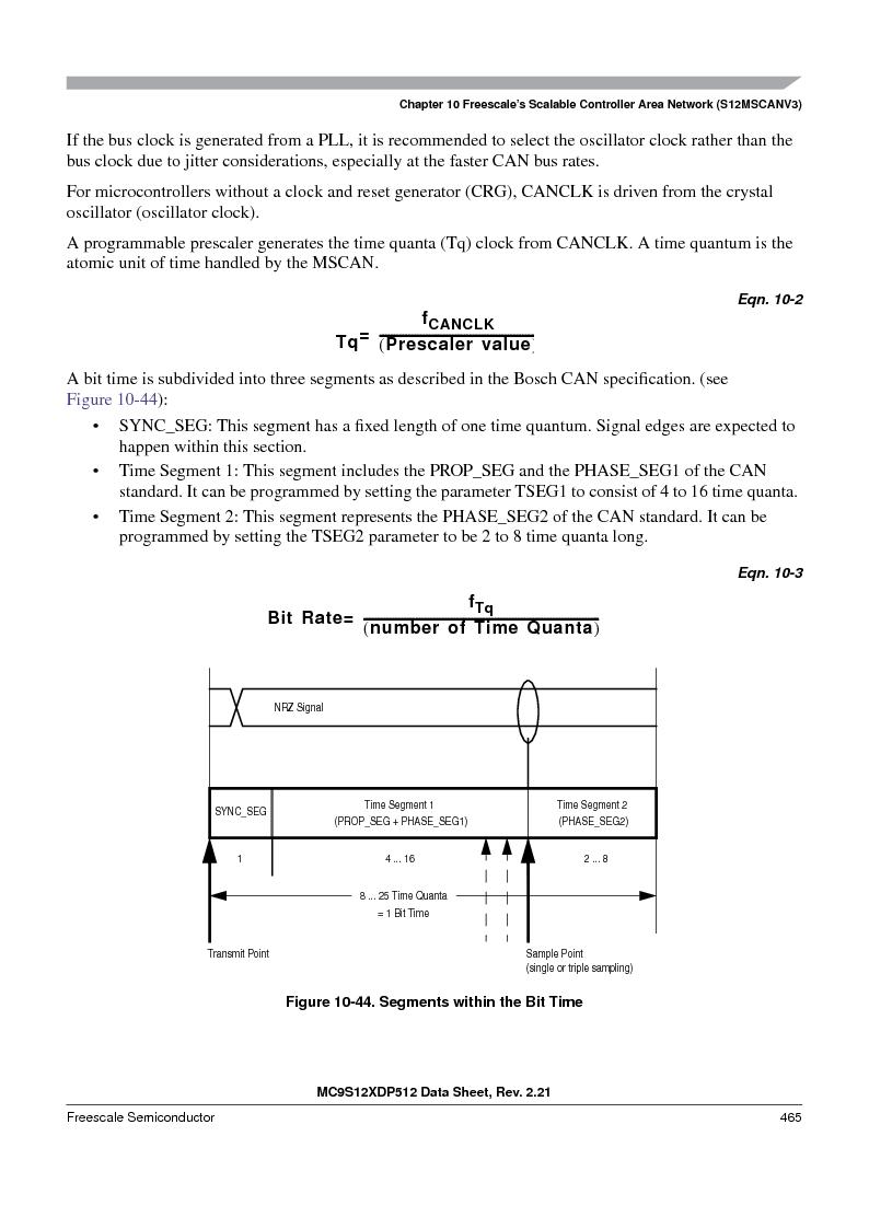 MC9S12XDT512MAL ,Freescale Semiconductor厂商,IC MCU 512K FLASH 112-LQFP, MC9S12XDT512MAL datasheet预览  第465页