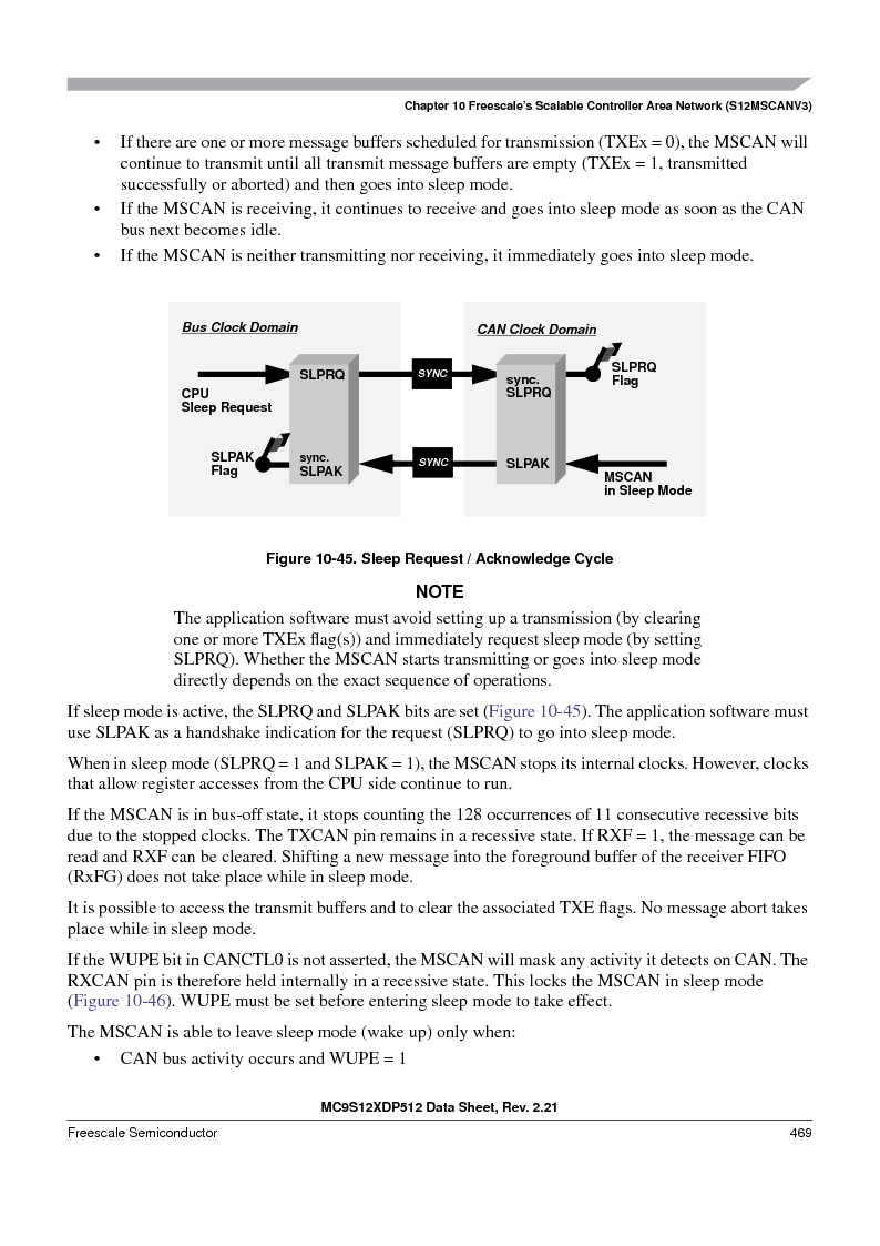 MC9S12XDT512MAL ,Freescale Semiconductor厂商,IC MCU 512K FLASH 112-LQFP, MC9S12XDT512MAL datasheet预览  第469页