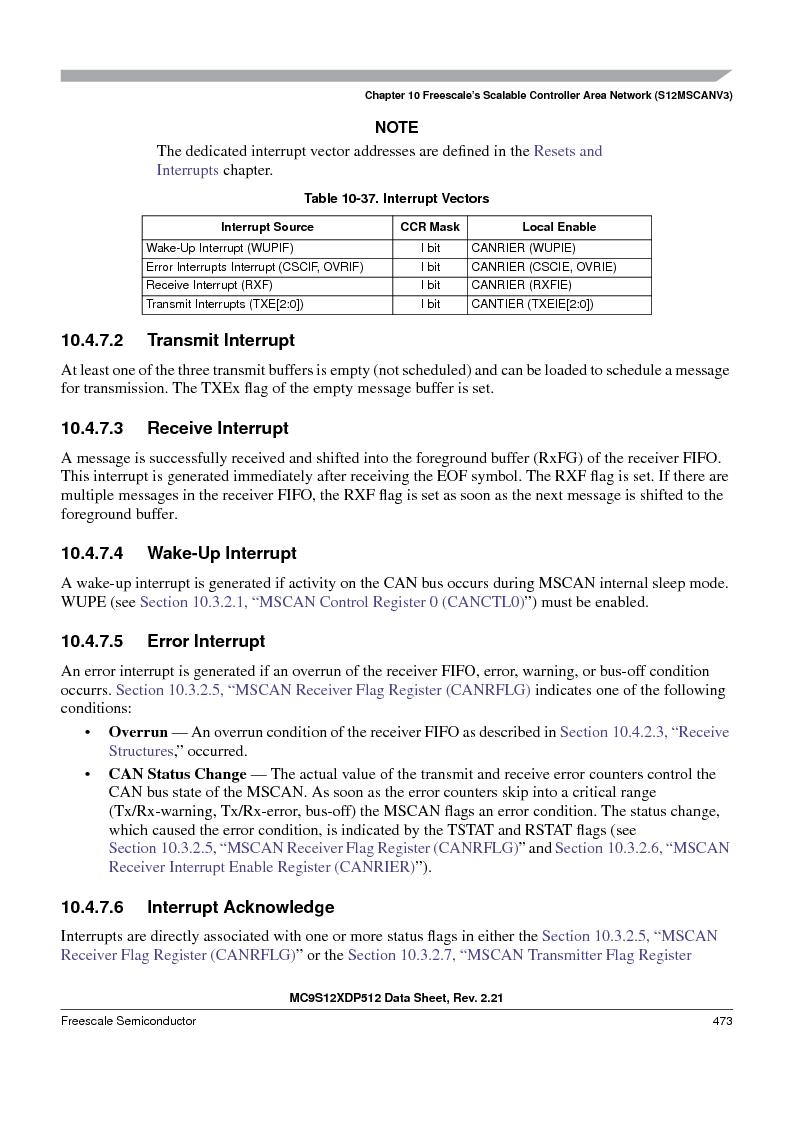 MC9S12XDT512MAL ,Freescale Semiconductor厂商,IC MCU 512K FLASH 112-LQFP, MC9S12XDT512MAL datasheet预览  第473页