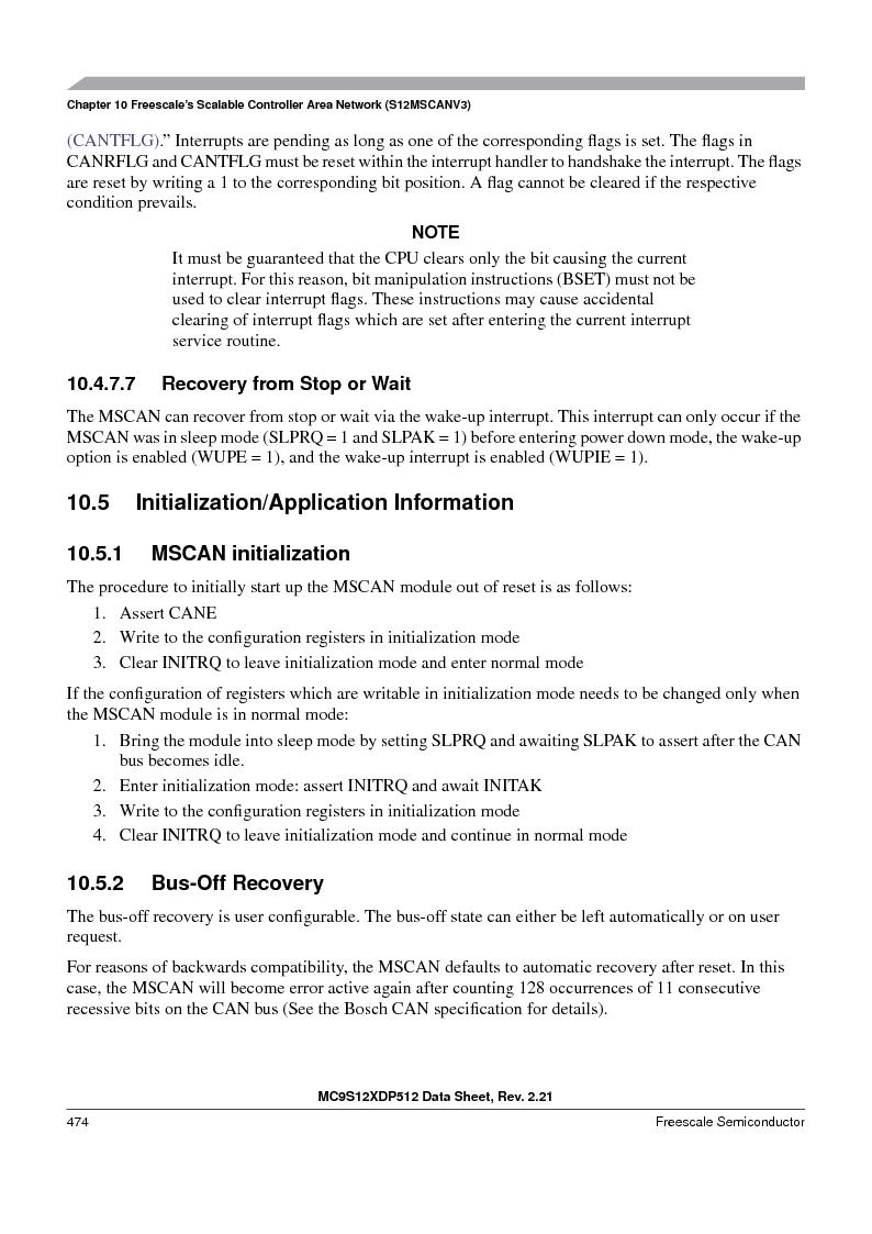 MC9S12XDT512MAL ,Freescale Semiconductor厂商,IC MCU 512K FLASH 112-LQFP, MC9S12XDT512MAL datasheet预览  第474页