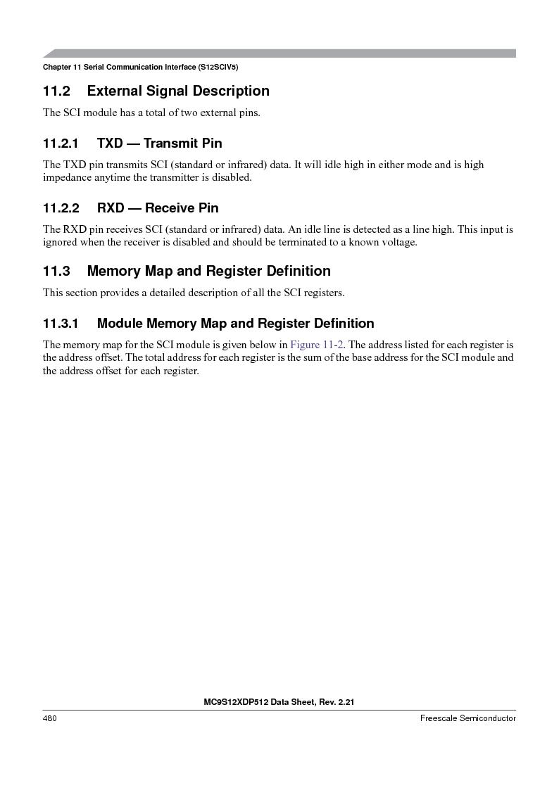 MC9S12XDT512MAL ,Freescale Semiconductor厂商,IC MCU 512K FLASH 112-LQFP, MC9S12XDT512MAL datasheet预览  第480页