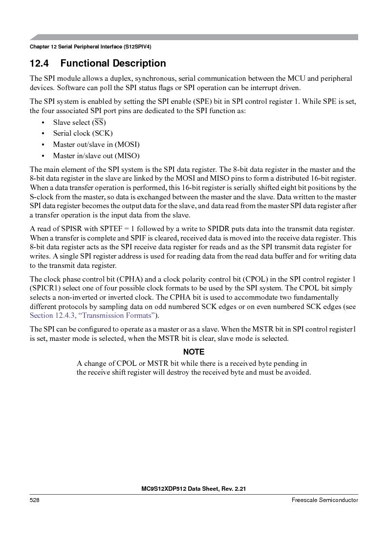 MC9S12XDT512MAL ,Freescale Semiconductor厂商,IC MCU 512K FLASH 112-LQFP, MC9S12XDT512MAL datasheet预览  第528页