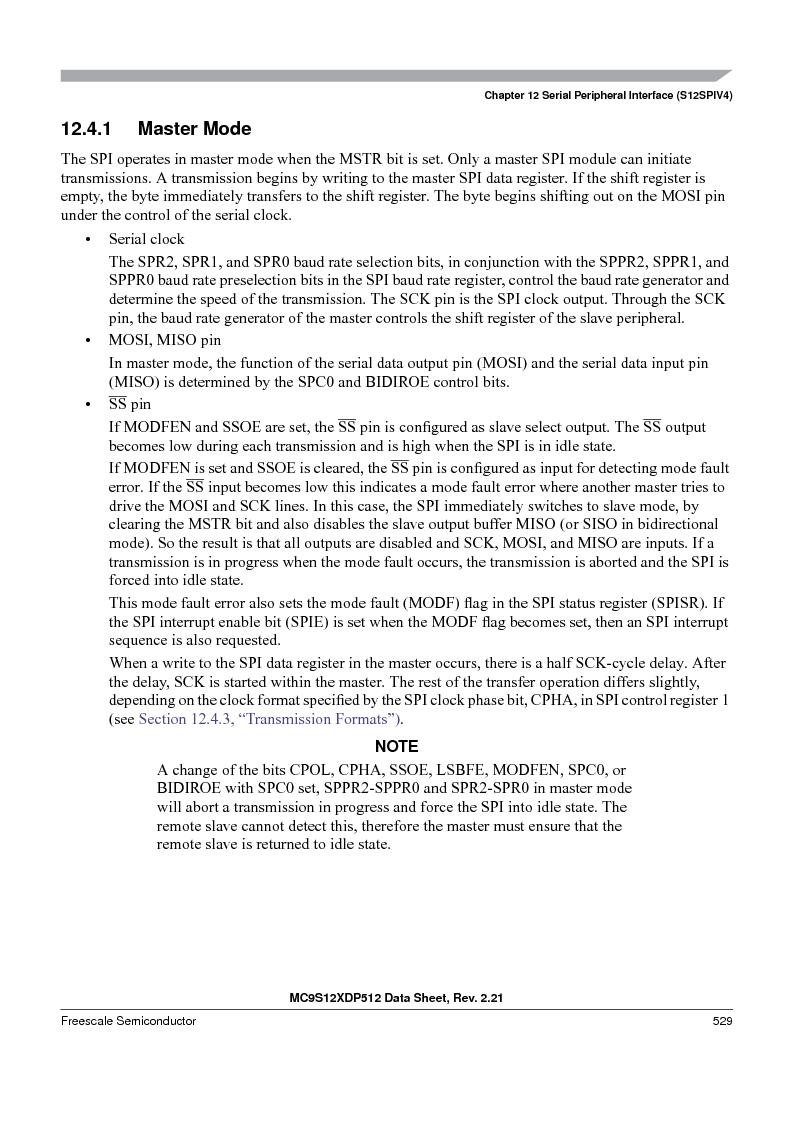 MC9S12XDT512MAL ,Freescale Semiconductor厂商,IC MCU 512K FLASH 112-LQFP, MC9S12XDT512MAL datasheet预览  第529页