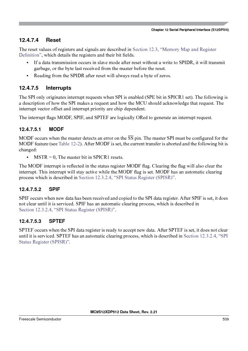 MC9S12XDT512MAL ,Freescale Semiconductor厂商,IC MCU 512K FLASH 112-LQFP, MC9S12XDT512MAL datasheet预览  第539页