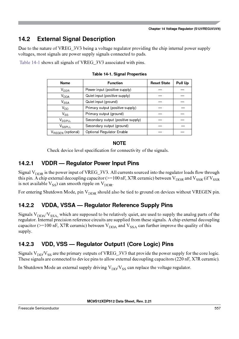 MC9S12XDT512MAL ,Freescale Semiconductor厂商,IC MCU 512K FLASH 112-LQFP, MC9S12XDT512MAL datasheet预览  第557页