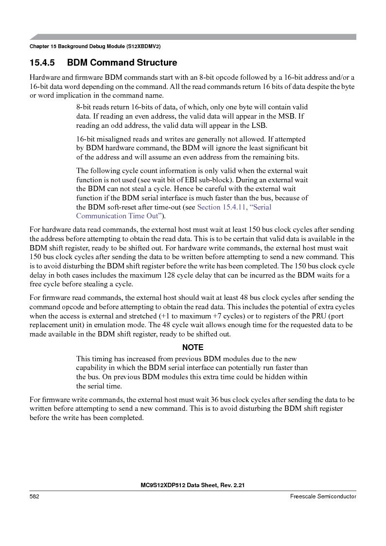 MC9S12XDT512MAL ,Freescale Semiconductor厂商,IC MCU 512K FLASH 112-LQFP, MC9S12XDT512MAL datasheet预览  第582页