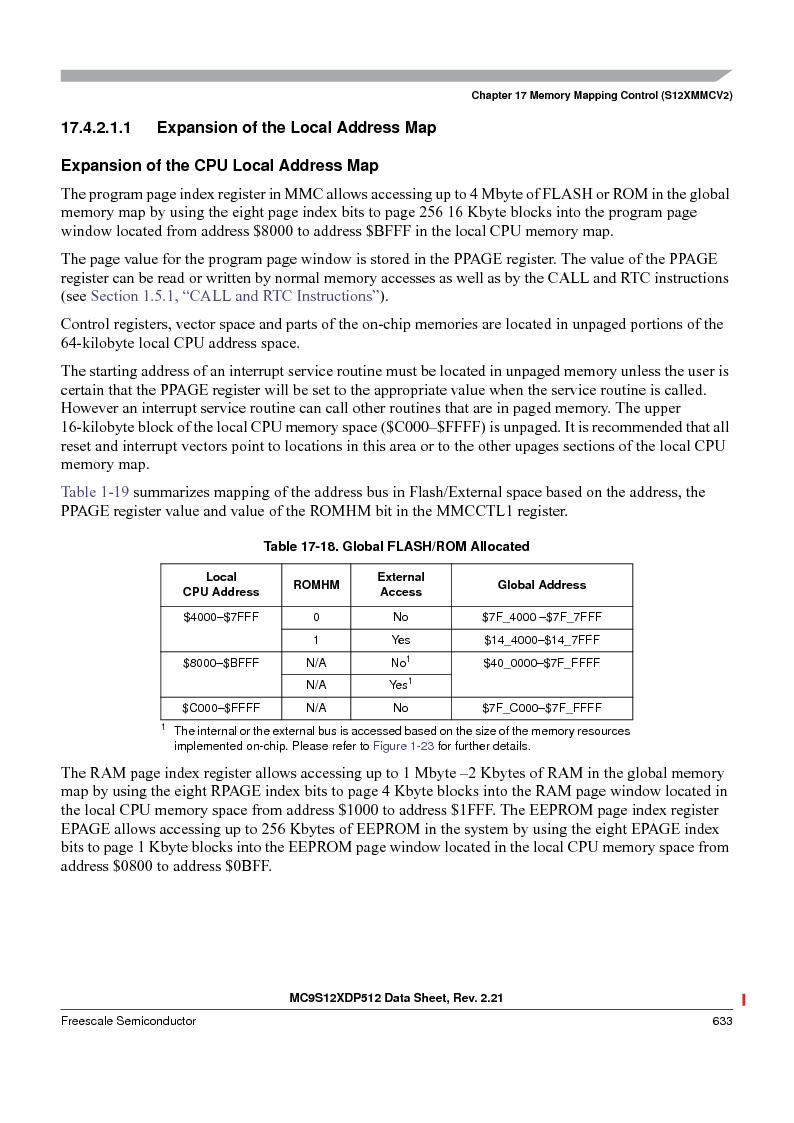 MC9S12XDT512MAL ,Freescale Semiconductor厂商,IC MCU 512K FLASH 112-LQFP, MC9S12XDT512MAL datasheet预览  第633页