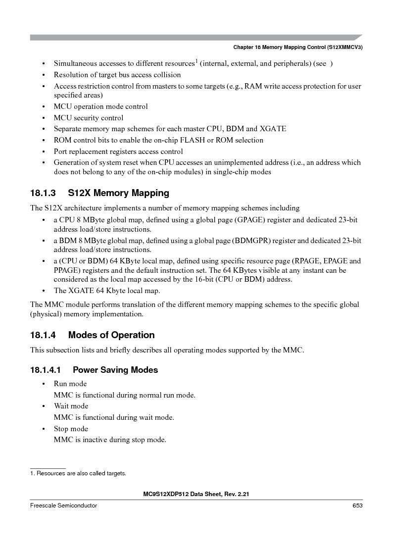 MC9S12XDT512MAL ,Freescale Semiconductor厂商,IC MCU 512K FLASH 112-LQFP, MC9S12XDT512MAL datasheet预览  第653页