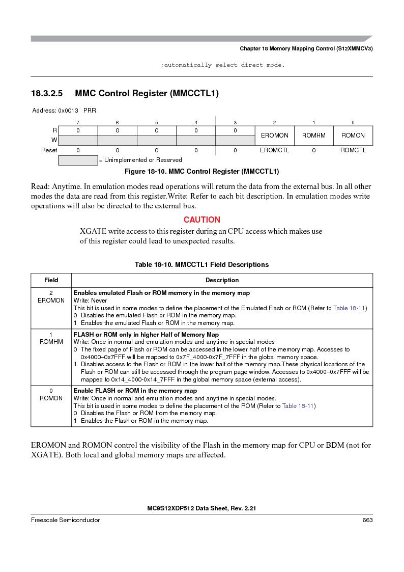 MC9S12XDT512MAL ,Freescale Semiconductor厂商,IC MCU 512K FLASH 112-LQFP, MC9S12XDT512MAL datasheet预览  第663页