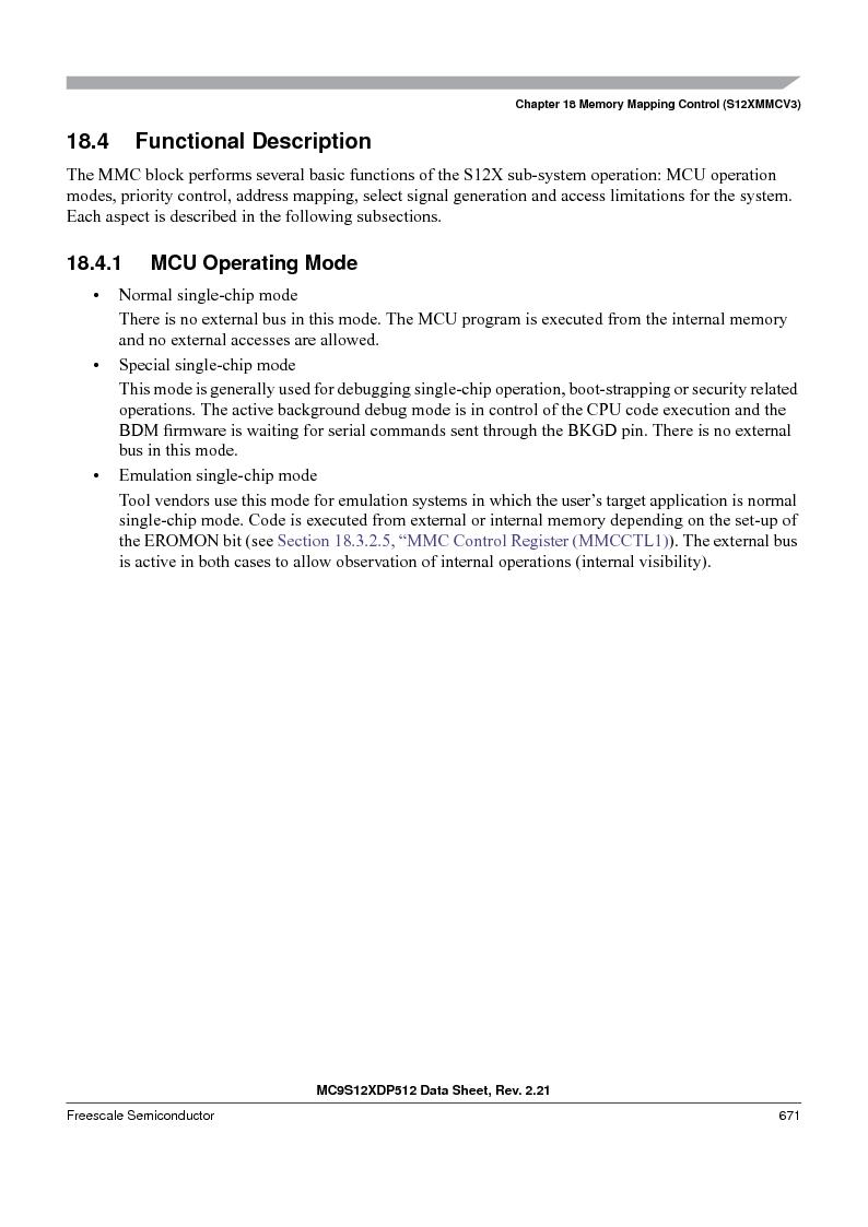 MC9S12XDT512MAL ,Freescale Semiconductor厂商,IC MCU 512K FLASH 112-LQFP, MC9S12XDT512MAL datasheet预览  第671页