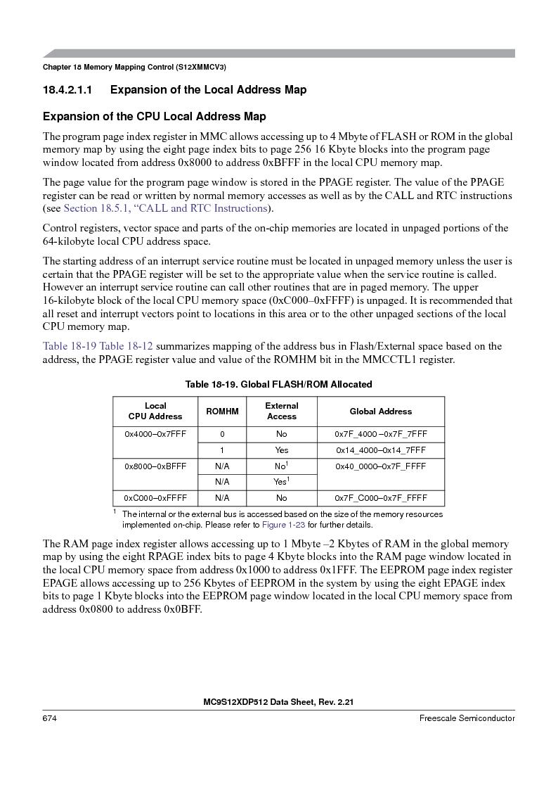 MC9S12XDT512MAL ,Freescale Semiconductor厂商,IC MCU 512K FLASH 112-LQFP, MC9S12XDT512MAL datasheet预览  第674页